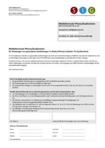 thumbnail of Formular TV-Nutzung – Filmmusik, Sprecherleistungen & Synchronisation