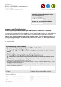 thumbnail of Formular TV-Nutzung – Werbespots & Signete